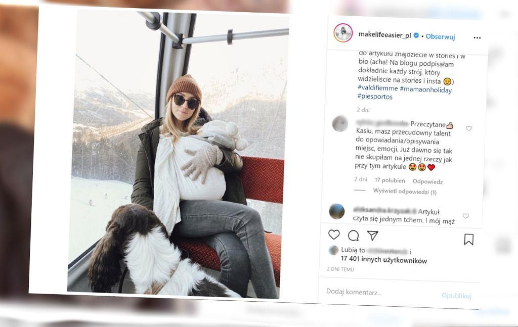 Kasia Tusk - jak ubiera córkę podczas podróży