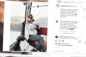 Kasia Tusk z rodziną w górach. Założyła córce czapkę z Zary i zamiast butów skarpetki z H&M