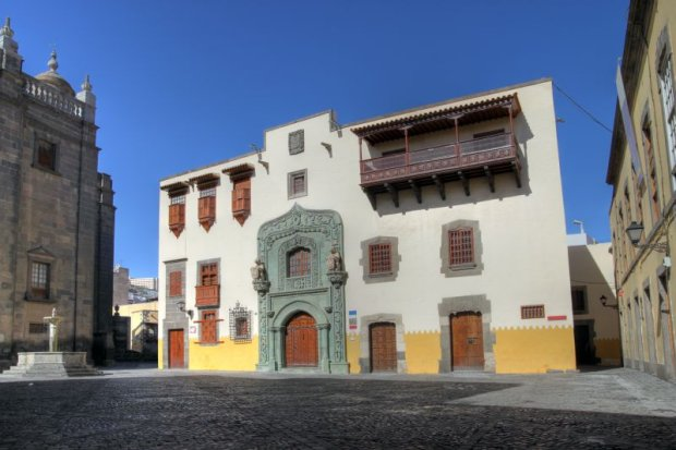 Casa Aduana, czyli dom Krzysztofa Kolumba w San Sebastian, stolicy wyspy La Gomera.