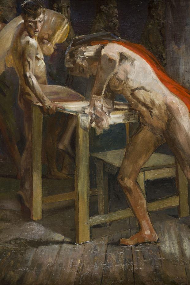 'Geniusz w pracowni malarskiej', po 1914 r., Jacek Malczewski