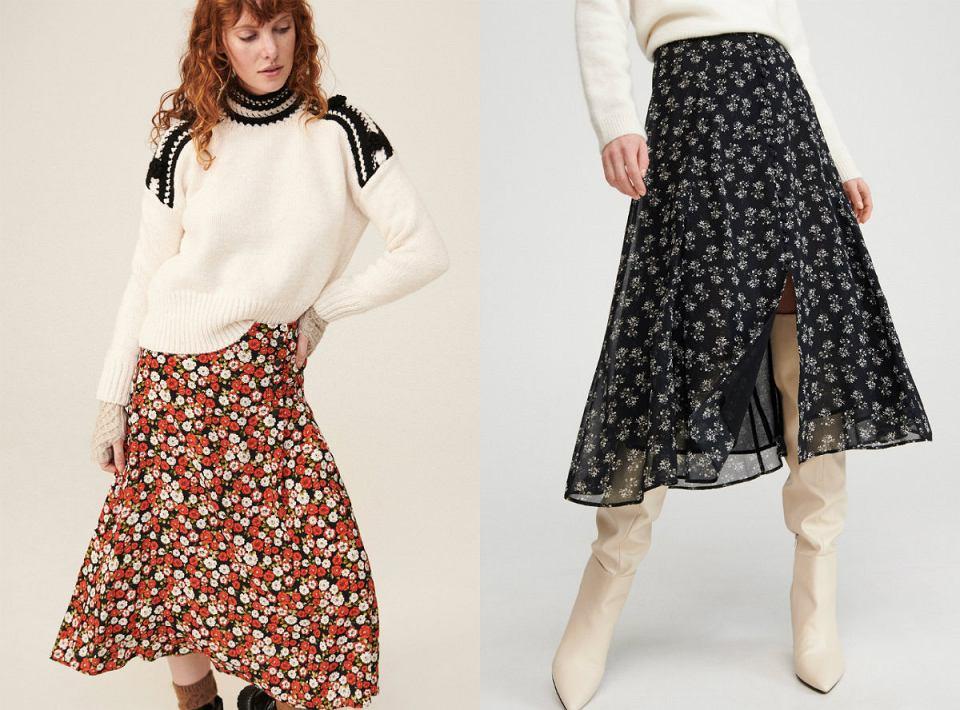Wzorzyste spódnice na zimę