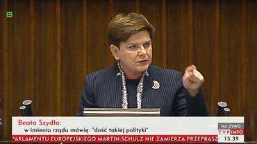 Sejm - premier Beata Szydło