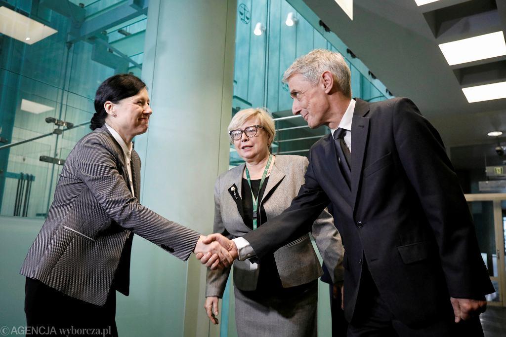 Wiceprzewodniczaca Komisji Europejskiej ds. praworzadnosci Vera Jourova podczas spotkania z pierwszą prezes Sądu Najwyższego Małgorzatą Gersdorf. Warszawa, 28 stycznia 2020