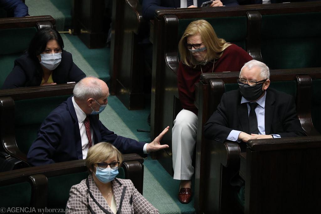 25 . posiedzenie Sejmu IX kadencji. Jarosław Kaczyński i Antonii Macierewicz