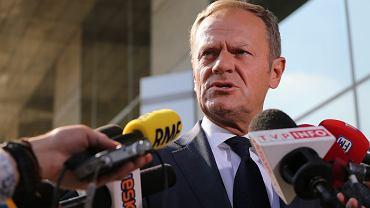 Donald Tusk podczas wizyty w Polsce w 2016 r.