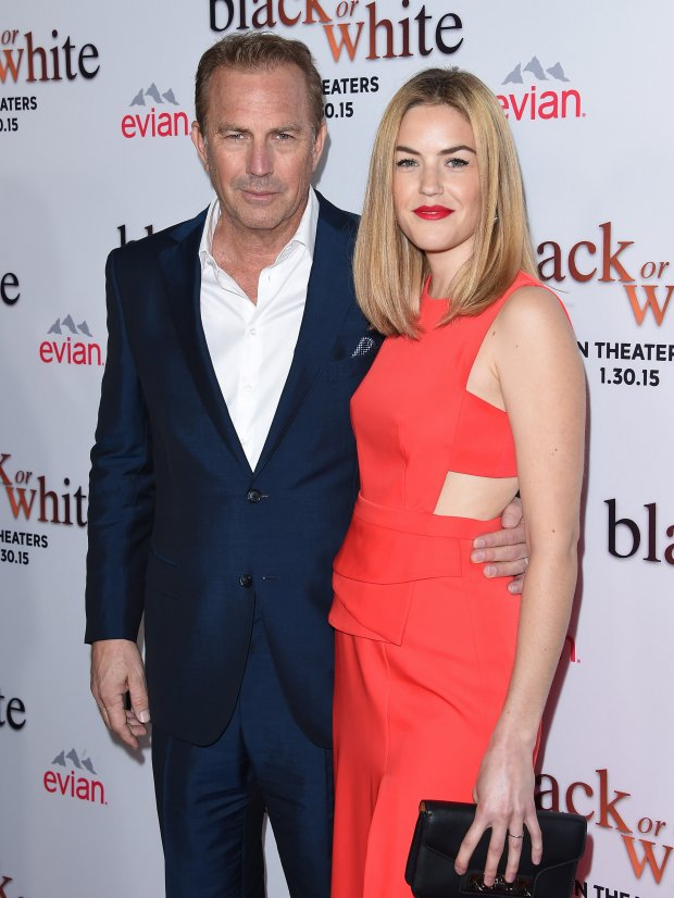 Kevin Costner z córką Lily