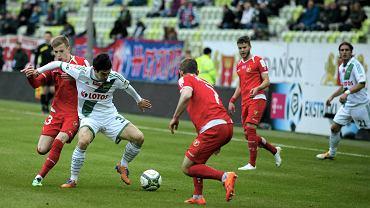 Lechia Gdańsk - Widzew Łódź 2:0. Przy piłce Nikola Leković