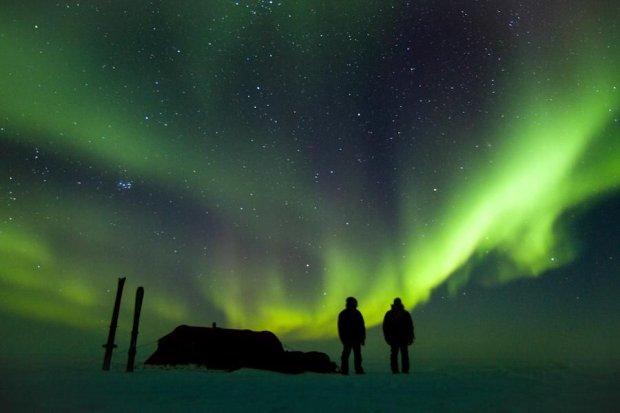 Zorza polarna, częsty widok za kołem podbiegunowym