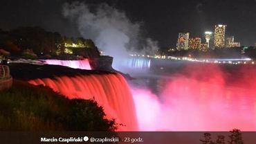 Wodospad Niagara zaświecił polskimi barwami