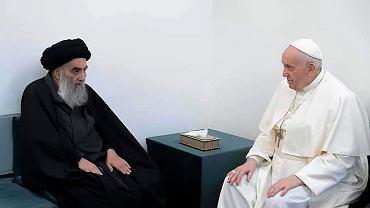 Irak. Papież spotkał się z przywódcą szyickiego islamu. Podziękował mu za stawanie w obronie najsłabszych