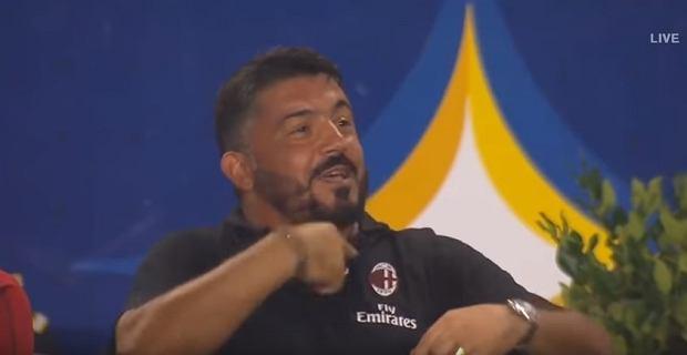 Gennaro Gattuso w trakcie meczu AC Milan - Manchester United