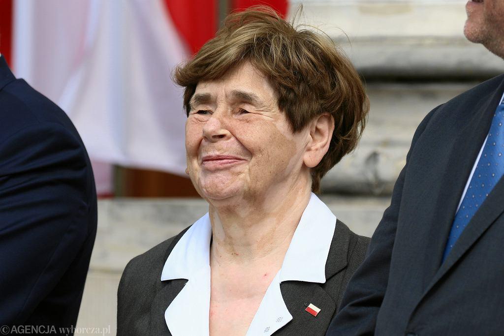 Zofia Romaszewska ma pretensje po pogrzebie Jana Lityńskiego.