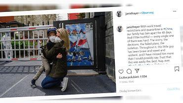 Dziennikarka zobaczyła syna po 49 dniach rozłąki