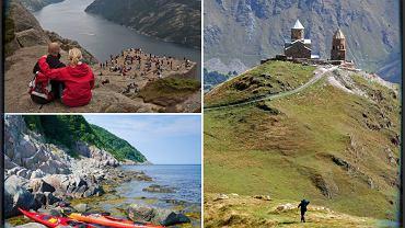 Majówka 2014: kajaki w Szwecji, fiordy w Norwegii, góry i wino w Gruzji / fot. Shutterstock, kolaż Gazeta.pl