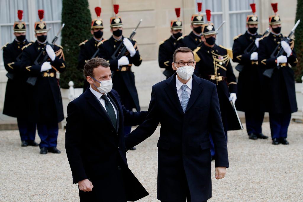 Paryż. Mateusz Morawiecki na spotkaniu z Emmanuelem Macronem. 'Przed nami kluczowe decyzje'