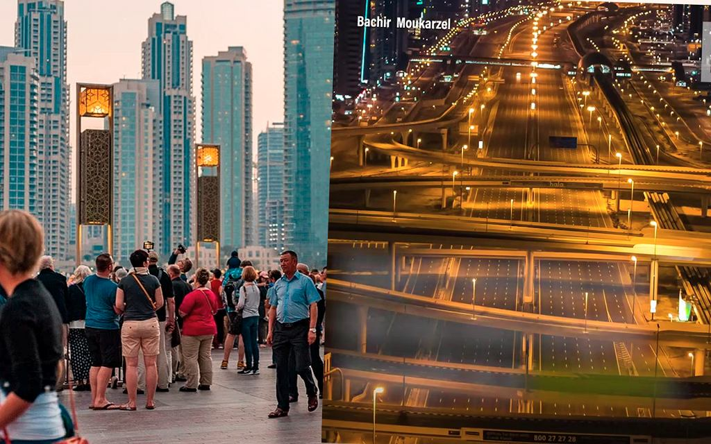 Opustoszałe ulice Dubaju