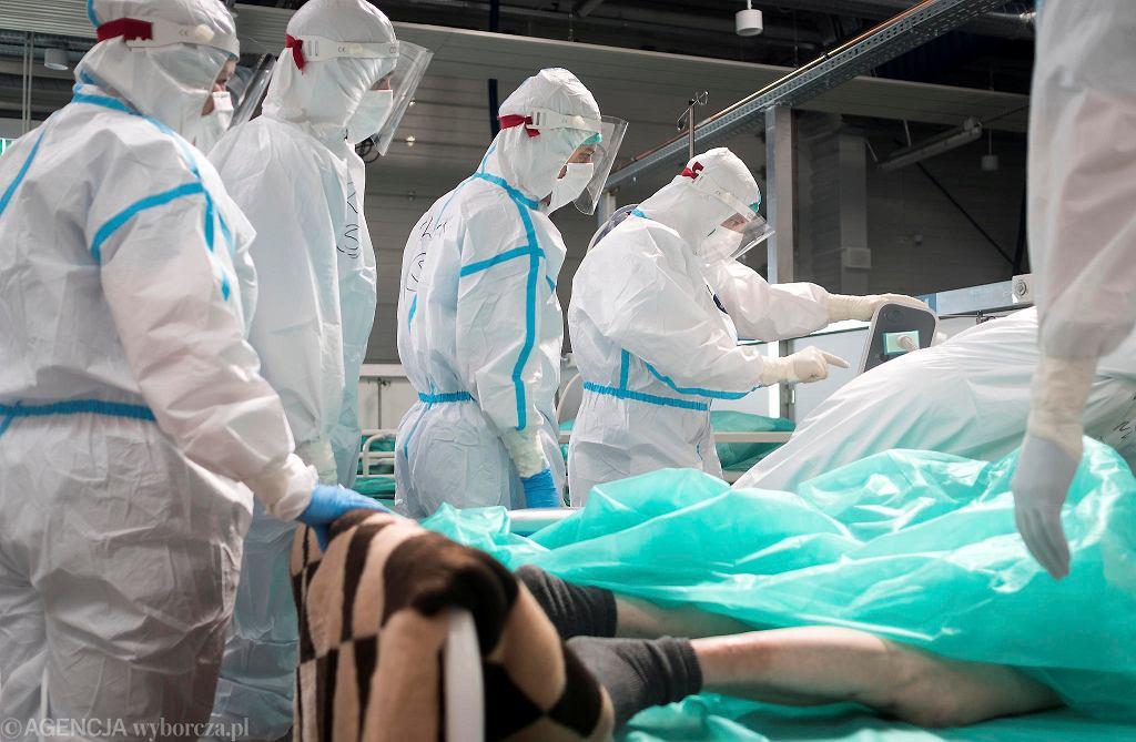 Szpital tymczasowy w Pyrzowicach. Od kilku dni najwięcej nowych zakażeń koronawirusem jest w województwie śląskim