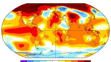 Wzrost średniej temperatury w zależności od szerokości geograficznej