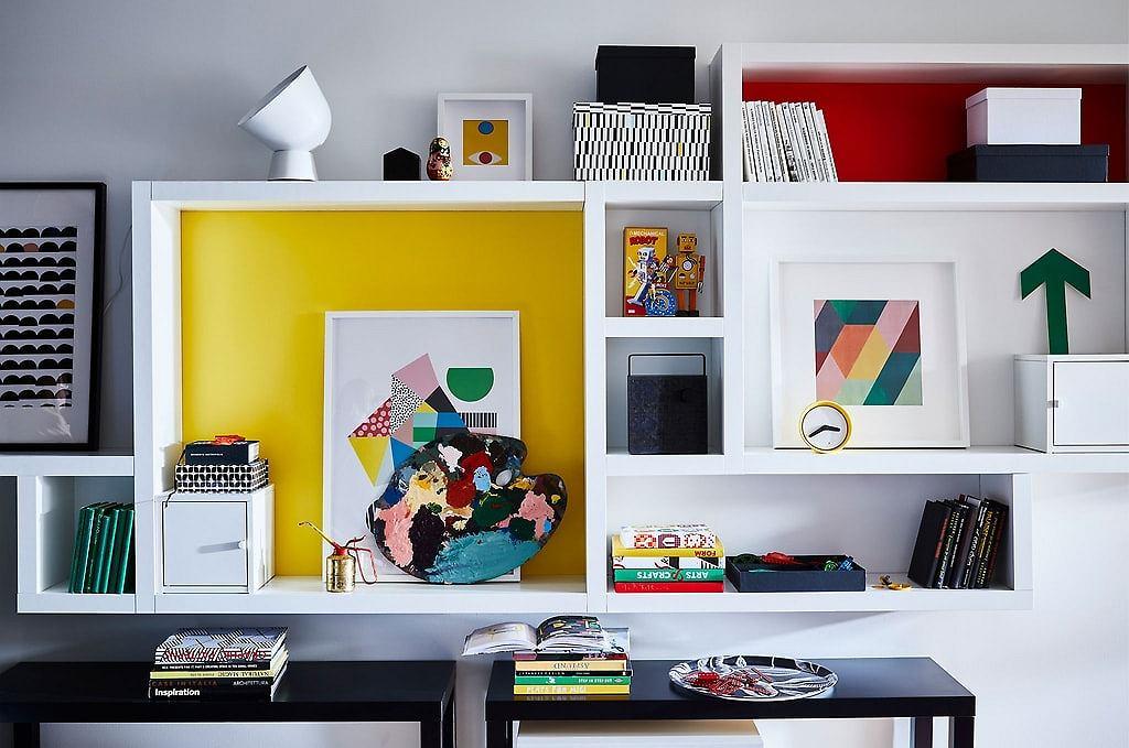 Półki Ikea LACK w wersji białej