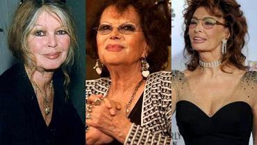 Claudia Cardinale, Brigitte Bardot, Sophia Loren.