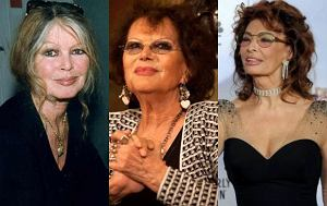Claudia Cardinale, Brigitte Bardot, Sophia Loren