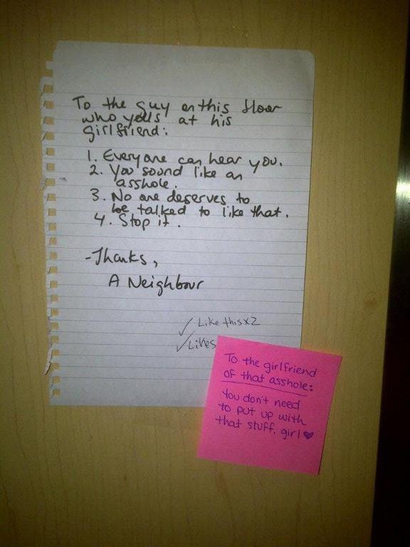 List do głośnego sąsiada
