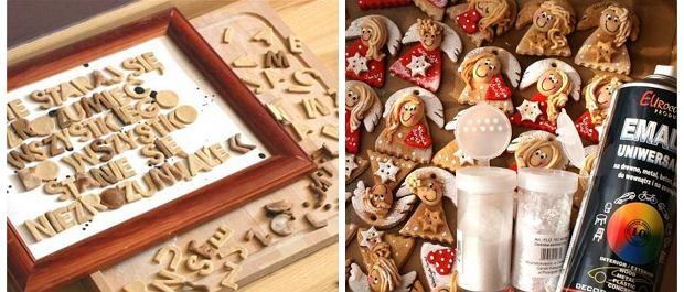 Dekoracje z masy solnej: literki i aniołki