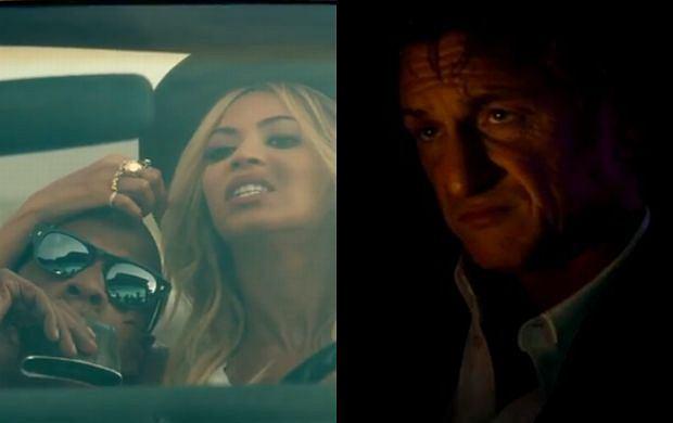 Beyonce, Jay Z i Sean Penn
