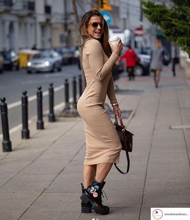 Anna Lewandowska promuje świąteczną kolekcję ubrań dla