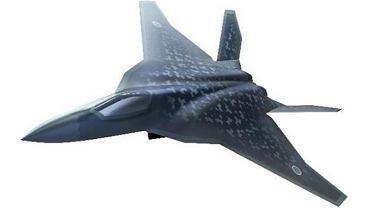 Wizualizacja myśliwca F-X