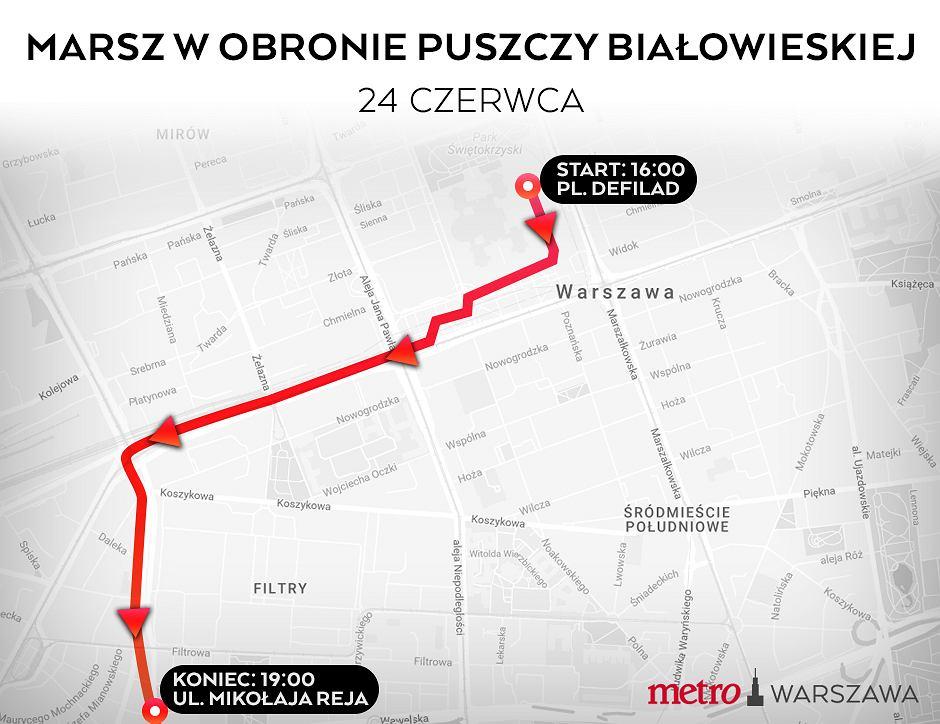 Tak będzie wyglądała trasa marszu