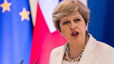 Premier Wielkiej Brytanii Theresa May na szczycie UE (fot. Geert Vanden Wijngaert/AP)