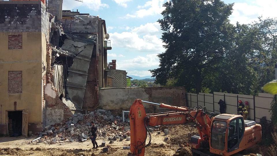 Zdjęcie numer 5 w galerii - Katastrofa budowlana w Bielsku-Białej. Zawaliła się część kamienicy