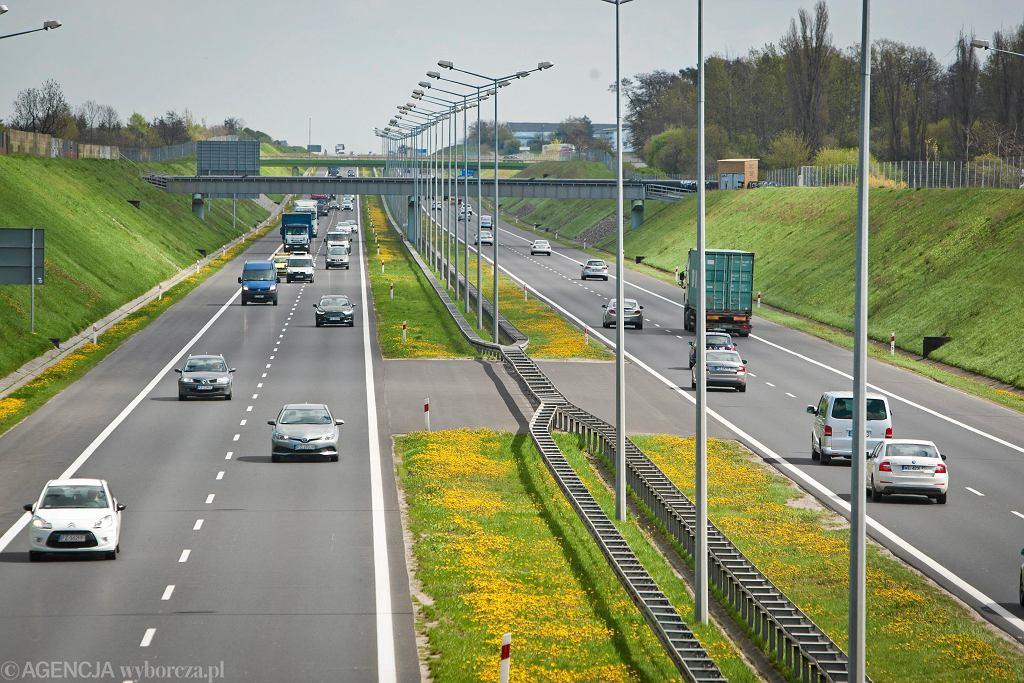 Autostrada A2 na wysokości Poznania.