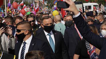 Andrzej Duda na Marszu dla Życia i Rodziny w Warszawie