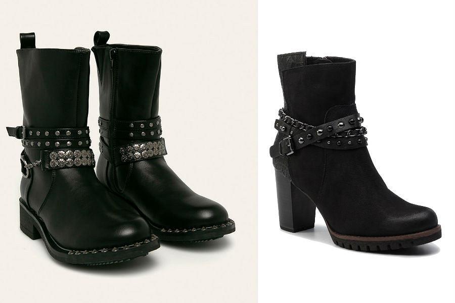 Buty zimowe damskie z ćwiekami