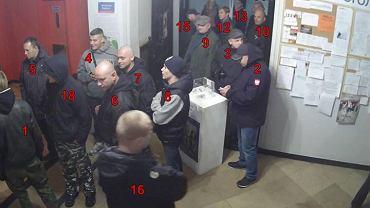 """Osoby, które w zeszłą sobotę wtargnęły do siedziby """"Ukraińskiego Świata"""""""
