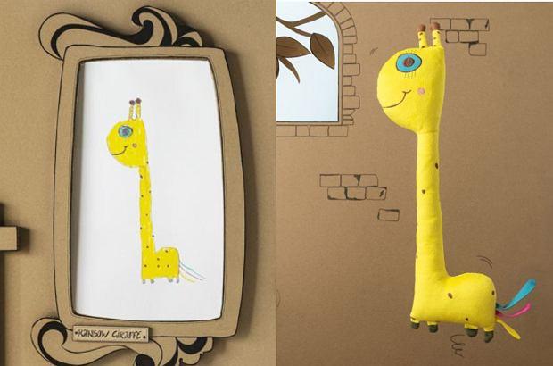 Ikea. Kolekcja Sagoskatt. Żółta żyrafa