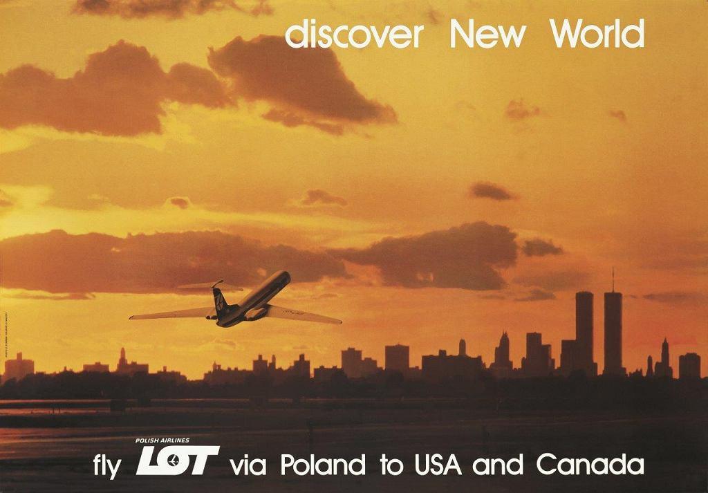 Plakat promocyjny LOT-u; E. Rysiński, grafika: Zbigniew Malicki; 1978 r.