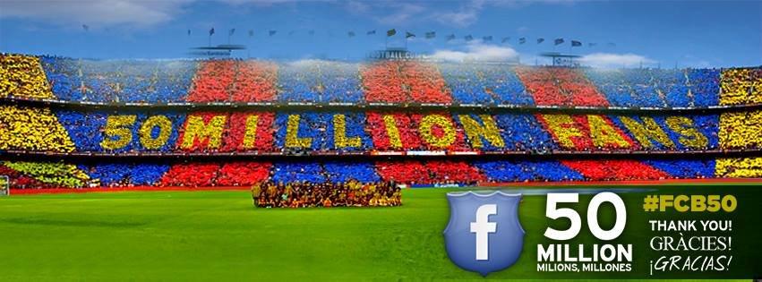 50 milionów fanów Barcy na FB