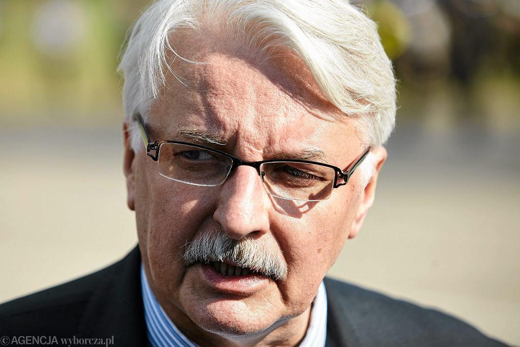 Minister Spraw Zagranicznych Witold Waszczykowski, 13.05.2016, Redzikowo k. Słupska