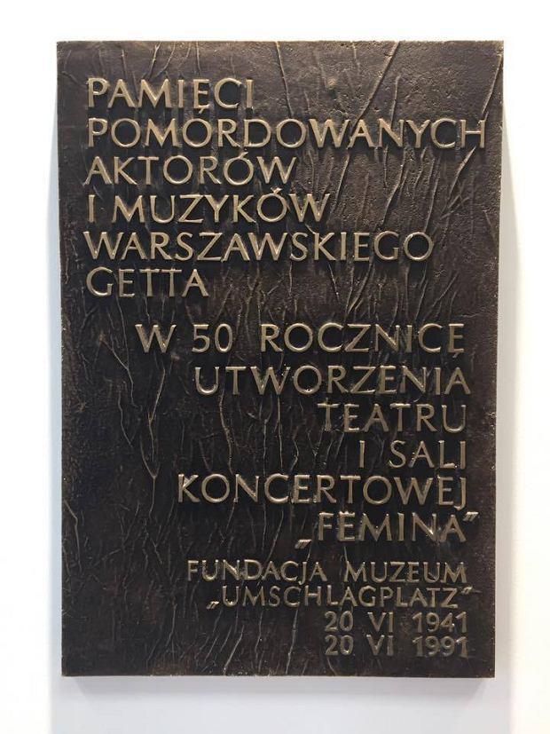 Tablica pomordowanych w czasie wojny artystów, Warszawa