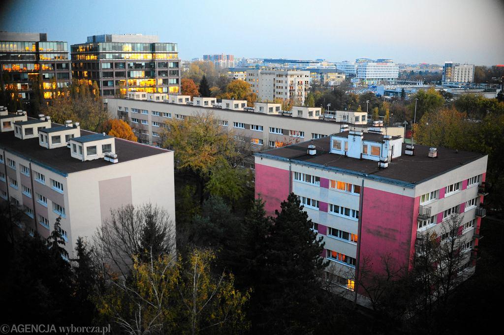 Bloki na Rakowcu w Warszawie