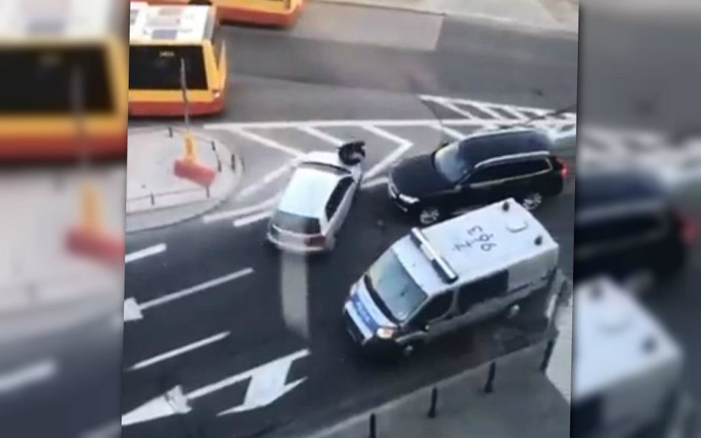 Potrącenie policjanta