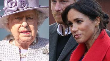 Królowa Elżbieta II, Meghan Markle, książę Harry