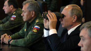 Władimir Putin podczas manewrów 'Zapad 2017'