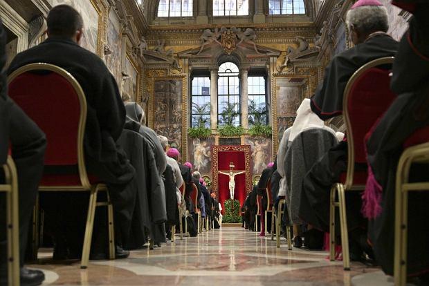 Sala Regia w Pałacu Apostolskim, gdzie odbywało się nabożeństwo pokutne z udziałem papieża Franciszka