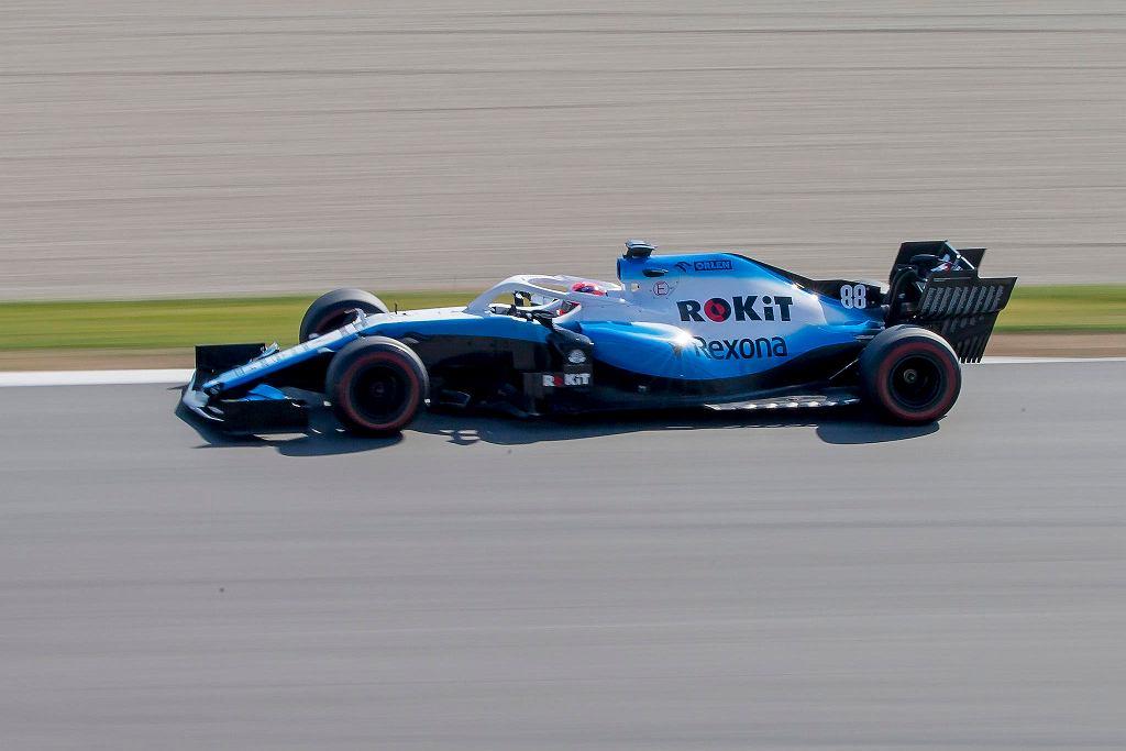 Robert Kubica podczas testów na torze Montmelo. Barcelona, 1 marca 2019