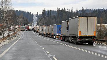 Protest słowackich przewoźników, blokada ciężarówek na polsko-słowackiej granicy