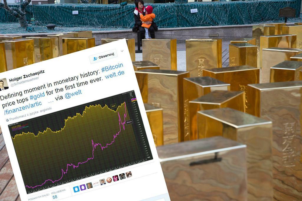 Bitcoin po raz pierwszy droższy od złota
